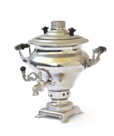 Samovar on white background photo