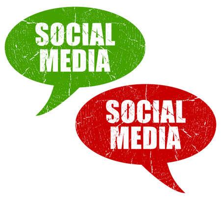 Social media symbols Stock Photo - 12414767