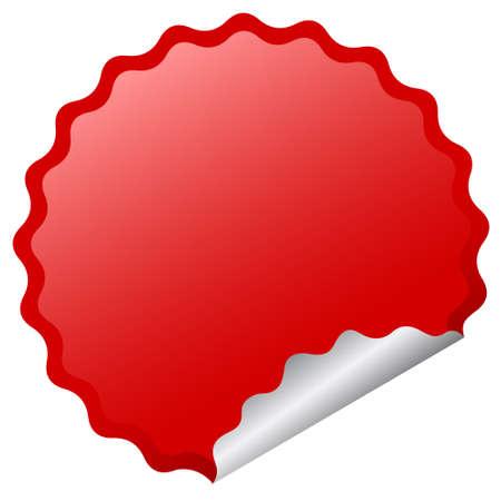 flashes:  glossy sticker