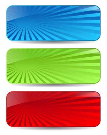 Abstract headers set Vector