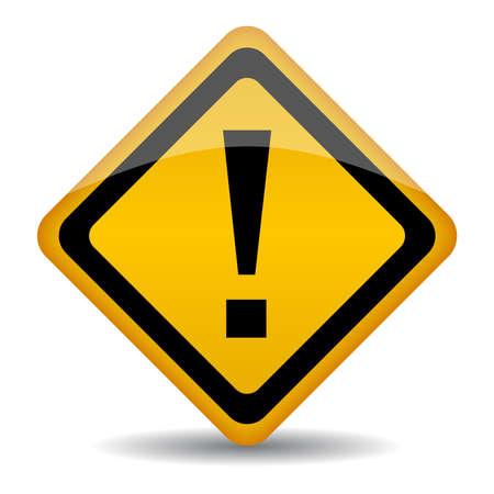 señal de advertencia con el signo de exclamación Ilustración de vector