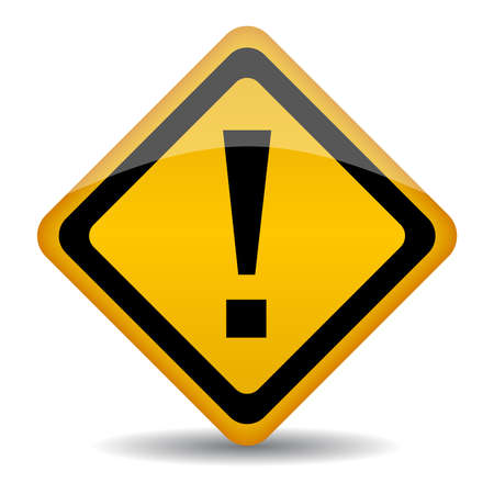 warning sign with exclamation point Vector