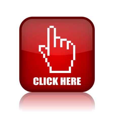 klick: Klicken Sie hier Button Illustration