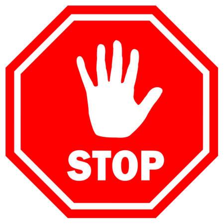 boton stop: Deje de firmar la ilustraci�n