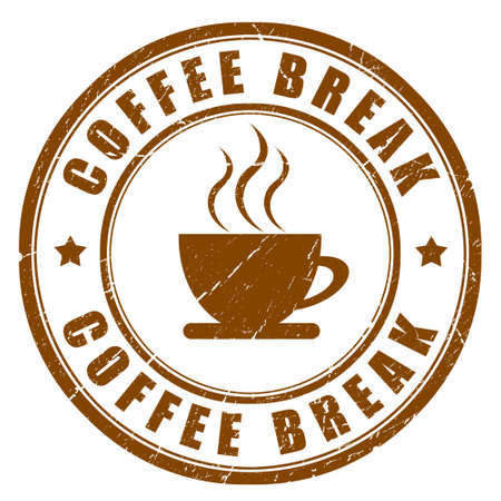 break: Coffee break sign Stock Photo