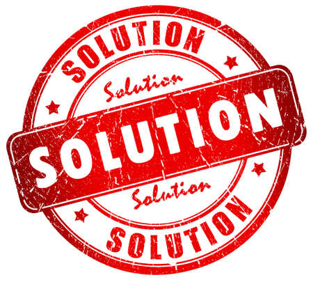 Solution stamp Stock Photo - 12414964