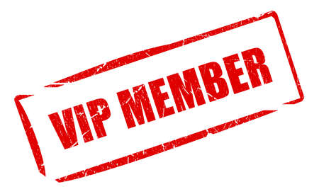 vip area: Vip member stamp Stock Photo