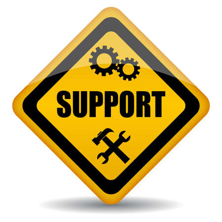 Vector support sign illustration