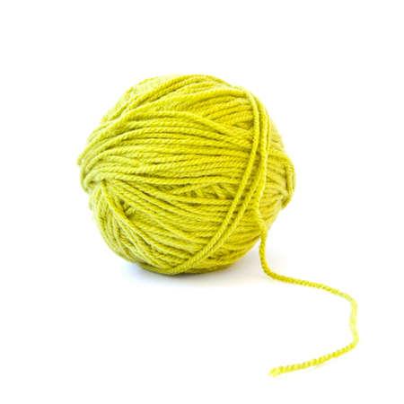 fleecy: Woollen ball over white