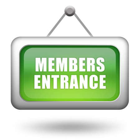 institutional: Members entrance sign Stock Photo