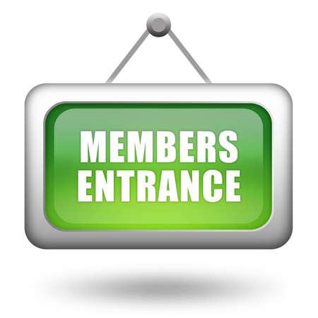 Panneau d'entrée Membres