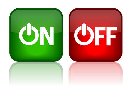 On and off web buttons, illustration Vector