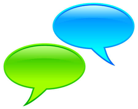 hablando: las burbujas del discurso Vectores