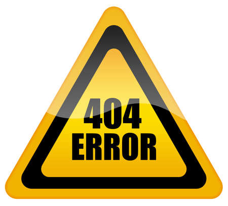 unauthorized: Error 404 icon Stock Photo