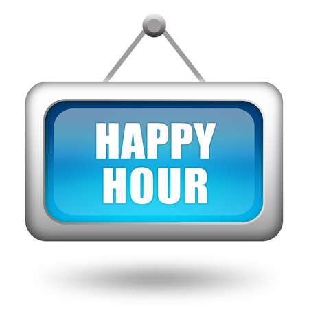 happy hour: Happy hour sign