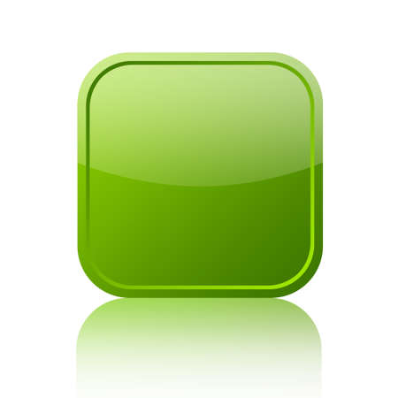 Green blank web button