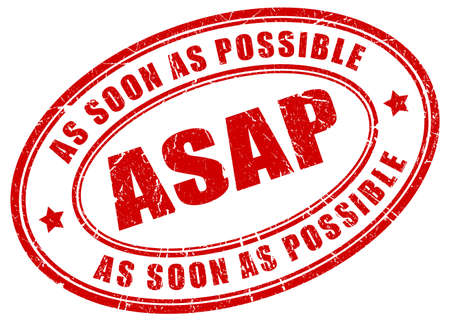 soon: As soon as possible stamp Illustration