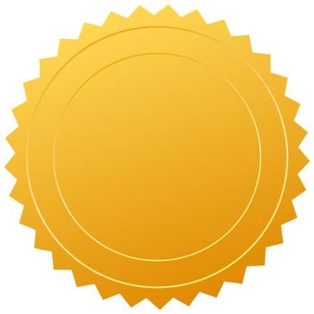 zeehonden: certificaat afdichting Stock Illustratie
