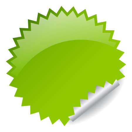 adhesive: Ilustraci�n de etiqueta verde