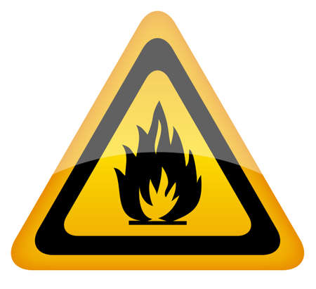 fire warning sign Vector