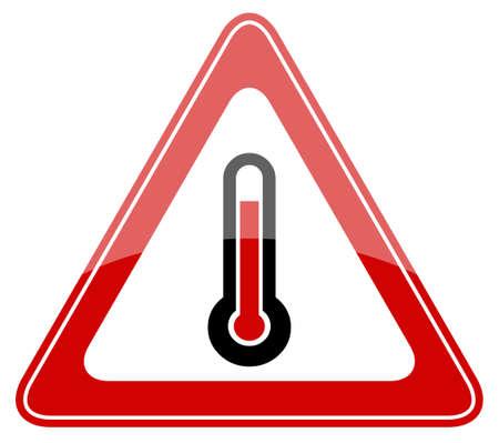 high temperature: High temperature sign