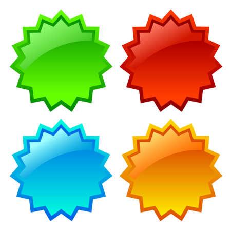 Vector estrella icono ilustración Vectores