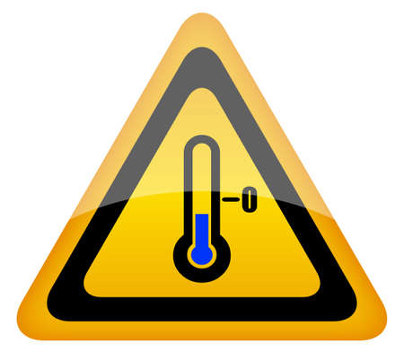 temperature: Low temperature vector warning sign