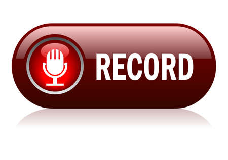 record: Vector record button
