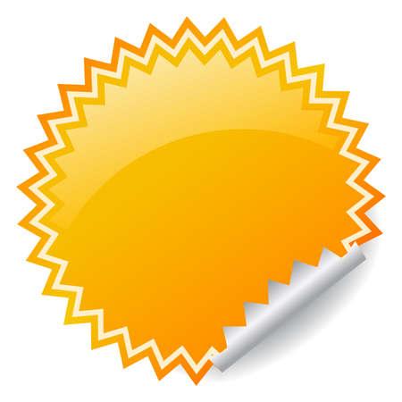 adhesive: Ilustraci�n vectorial pegatina brillante Vectores
