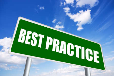 Best practice sign Stock Photo - 12894952