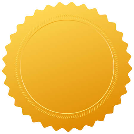 Blank golden certificate seal photo