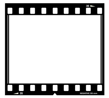 film negative: Film frame illustration