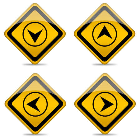 Navigation buttons with direction arrows Stock Photo - 12894953