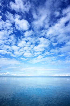 Ocean and blue sky photo