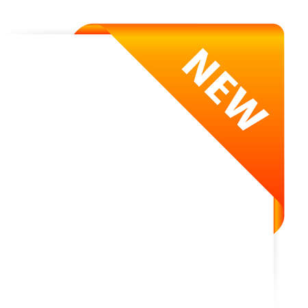 promotion icon: Orange new header Stock Photo