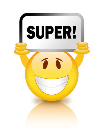 Super smiley illustration Stock Illustration - 12894945