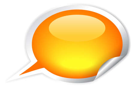 Glossy speech bubble illustration Vector