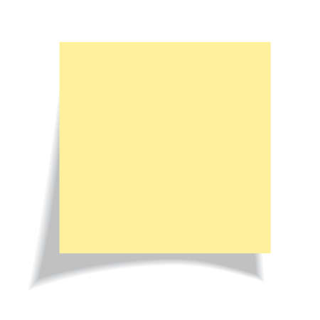 yellow note: Blank yellow sticker illustration
