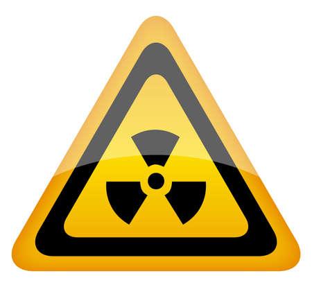 radiacion: radiaci�n de la ilustraci�n signo Vectores