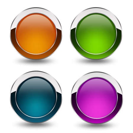 Glossy blank buttons set Stock Photo - 13185180