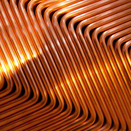copper: Red copper abstract pattern