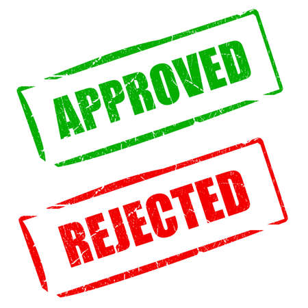 Approved rejected stamps Stock Photo - 13185181