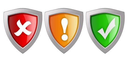 Security shields illustration Stock Illustration - 13185174