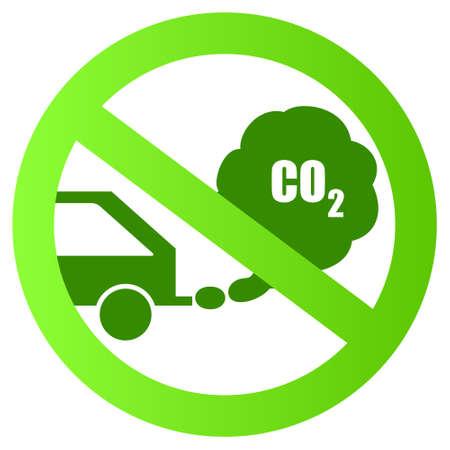 pollutant: Ecological transport sign illustration