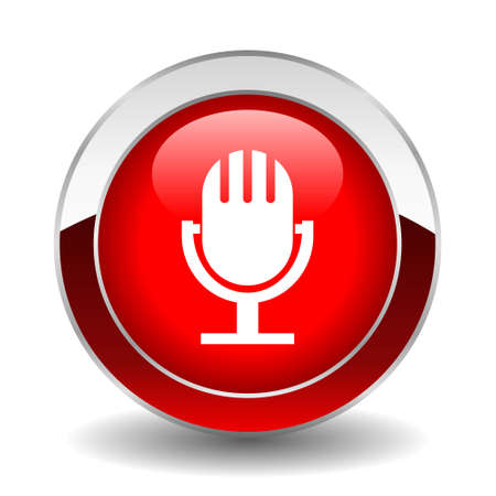 microphone button Stock Vector - 13310777