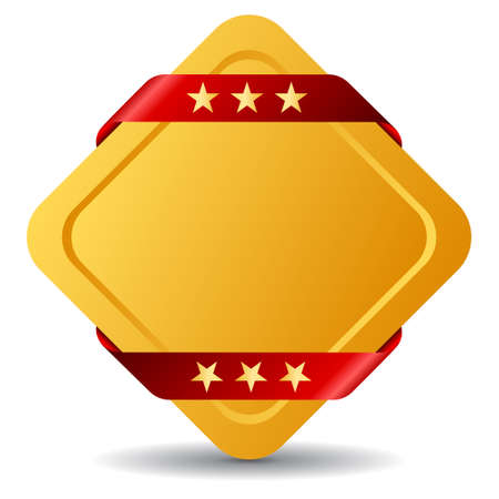 Rhombus blank award symbol illustration