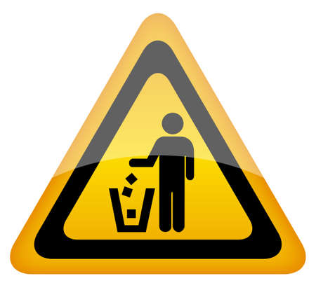 botar basura: No hay se�ales basura