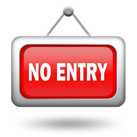 hanging sign: No entry sign