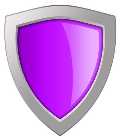 Glass pink shield photo