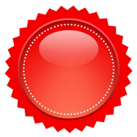 Red glass icon photo